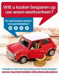 Kosten-calculator app van Twente Mobiel, gesubsidieerd vanuit Beter Benutten