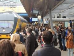 Drukte op Utrecht Centraal