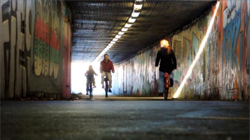 Ode aan het verdwenen fietspad door degraffititunnel