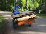 Duurzaam vervoer met een antieke bakfiets