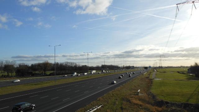 A2 bij Breukelen en Nieuwer ter Aa.